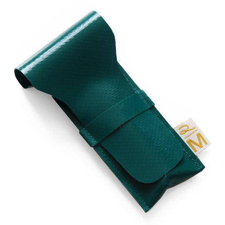 Vegan safety razor pouch green
