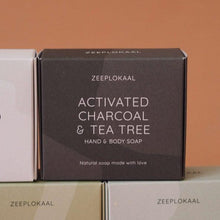 Load image into Gallery viewer, Actieve kool & tea tree zeep (XL)-Zeep-Zeeplokaal-MIISHA