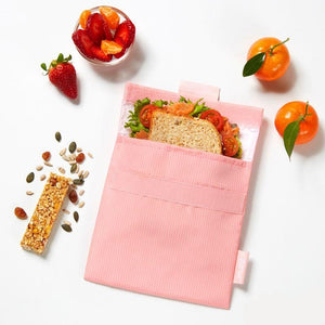 Herbruikbare snack bag roze-Snack bag-Roll'eat-MIISHA