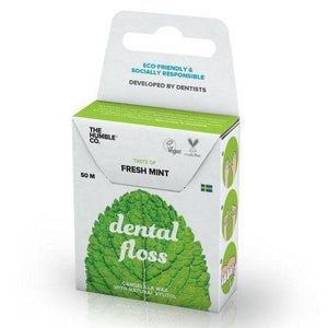 MIISHA - Natuurlijke en vegan floss in de smaak fresh mint van The Humble Co
