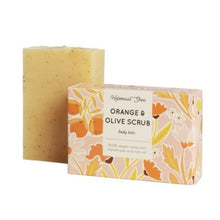 Load image into Gallery viewer, Orange & olive scrub soap