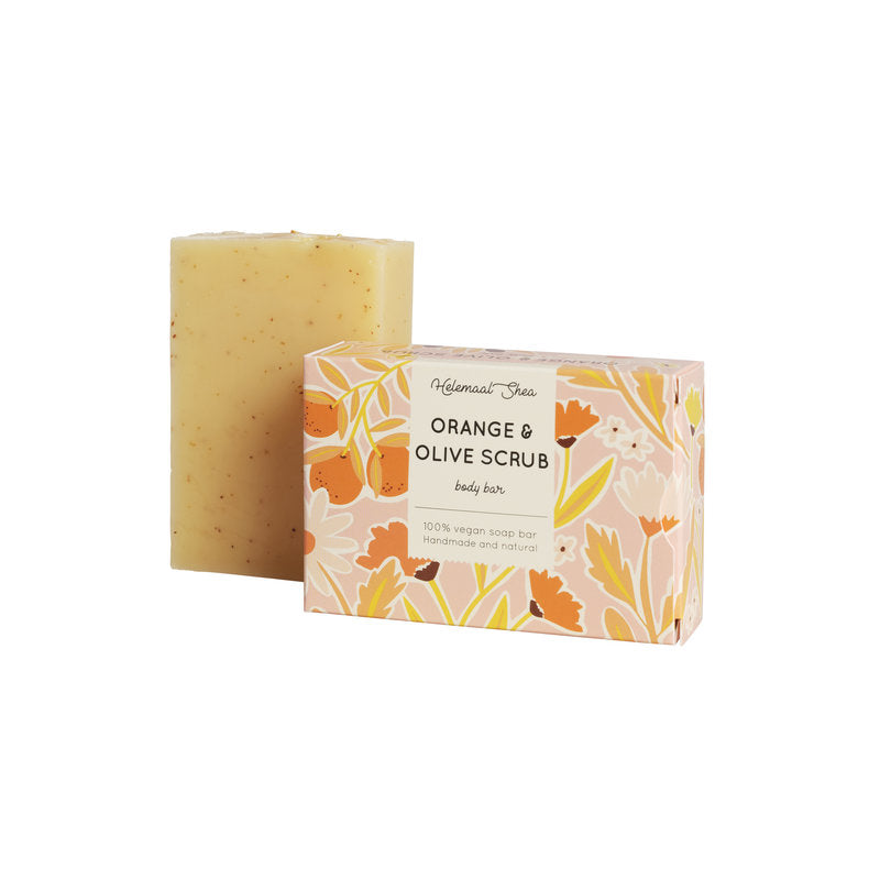 Orange & olive scrub soap