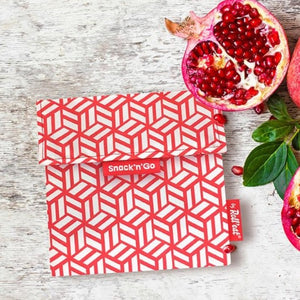 Herbruikbare snack bag rood-Lunchwraps-Roll'eat-MIISHA