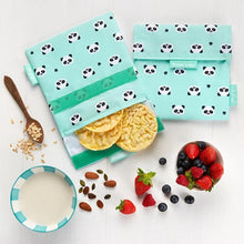 Afbeelding in Gallery-weergave laden, Herbruikbare snack bag kids panda's-Lunchwraps-Roll'eat-MIISHA