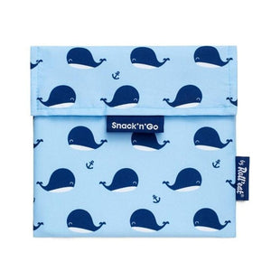 Herbruikbare snack bag kids walvis-Snack bag-Roll'eat-MIISHA
