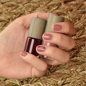 Natuurlijke vegan nagellak poeder roze-Make-up-Boho Green Make-up-MIISHA