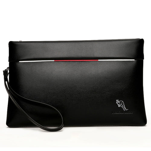Yues Kangaroo Soft Leather Clutch Bag