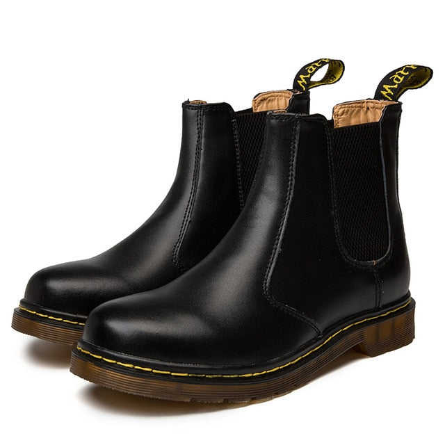 Doc Martins Inspired Chelsea Boots in Black