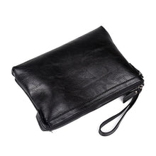 Load image into Gallery viewer, Luxury Leather Business Clutch Bag in Black