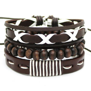 """Dust Storm"" Multi-Layer Leather Bracelet Set"