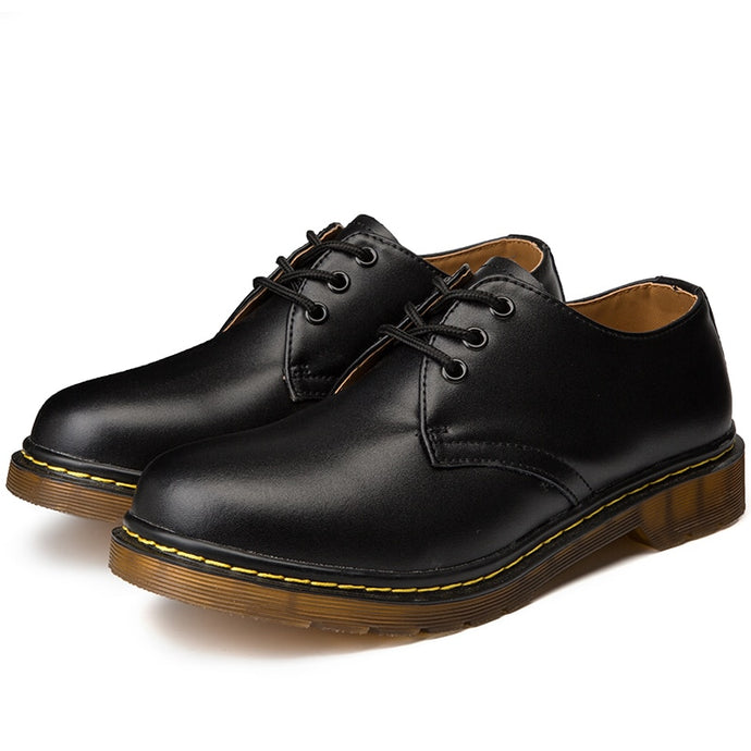 Doc Martins Inspired Smooth Shoes in Black