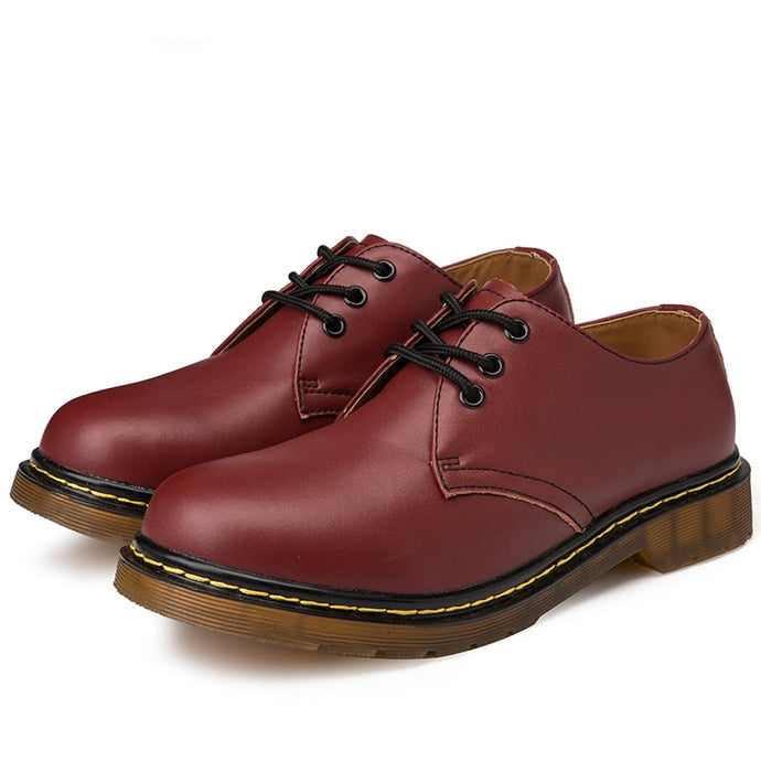 Doc Martins Inspired Smooth Shoes in Red