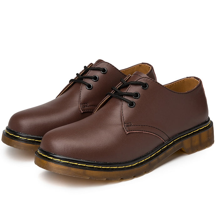 Doc Martins Inspired Smooth Shoes in Brown