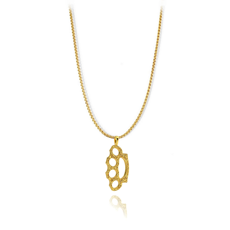 Knuckle Pendant - 18k gold plated - ndm-jewelry