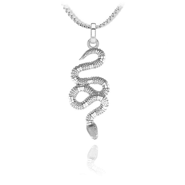 Snake Pendant - Sterling silver - ndm-jewelry