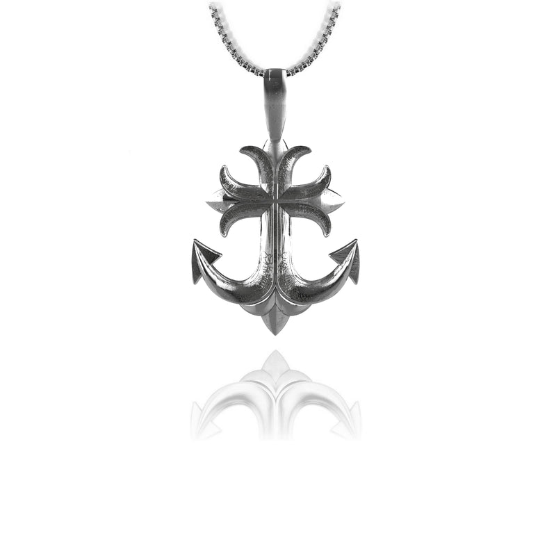 Anchross Pendant - Sterling silver - ndm-jewelry