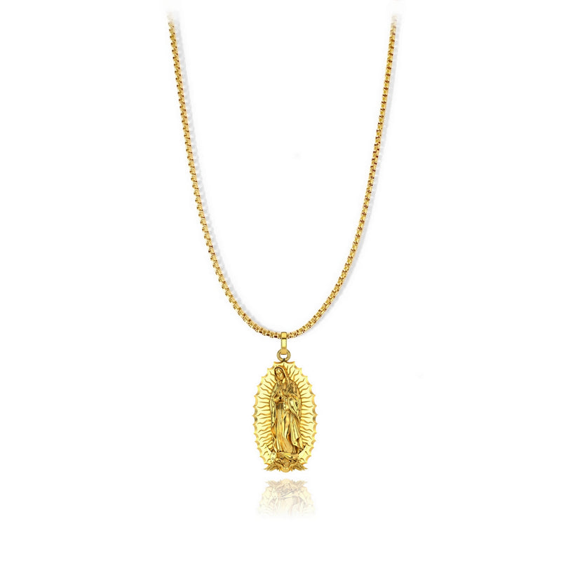 Virgin of Guadalupe Pendant - 18k gold plated - ndm-jewelry