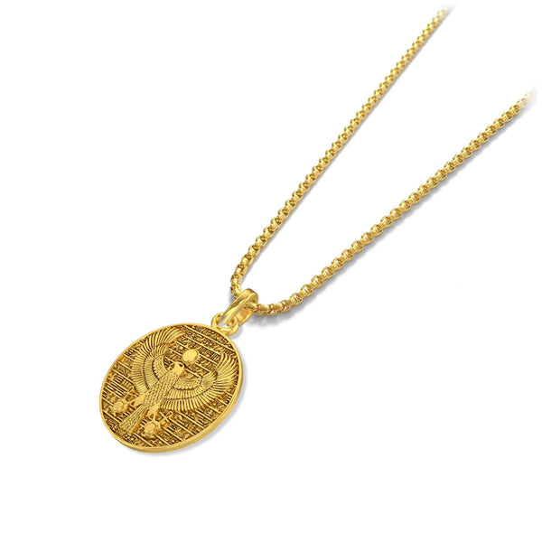Eagle of Horus Pendant - 18k gold plated - ndm-jewelry