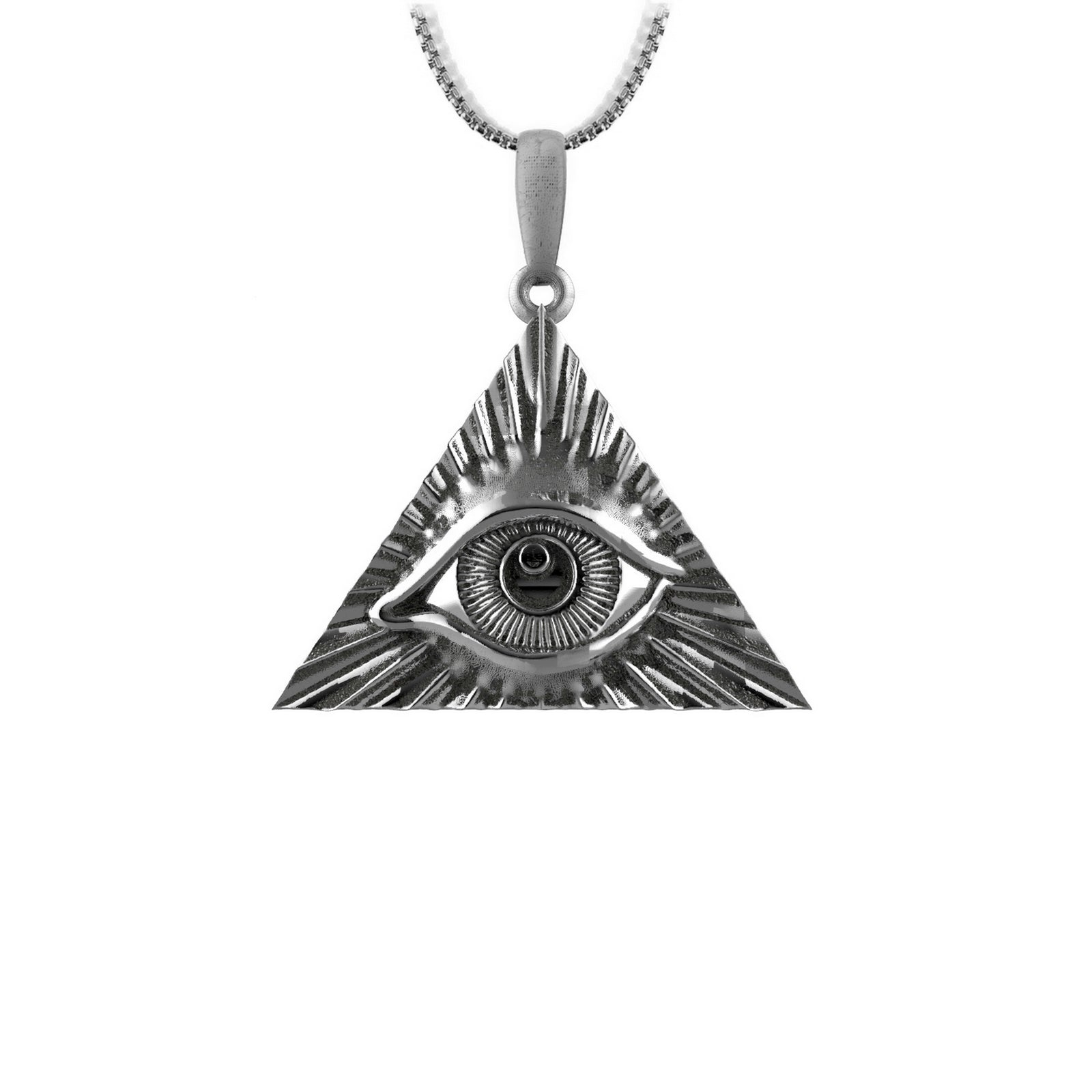 All seeing eye - Sterling silver