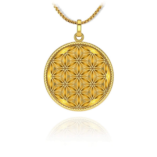 Flower of life Pendant - 18k gold plated - ndm-jewelry