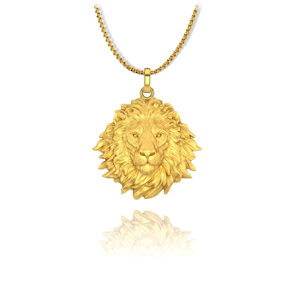 Lion Pendant - Stainless Steel - ndm-jewelry