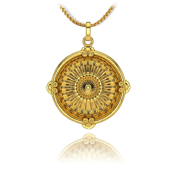 Medallion Pendant - 18k gold plated - ndm-jewelry