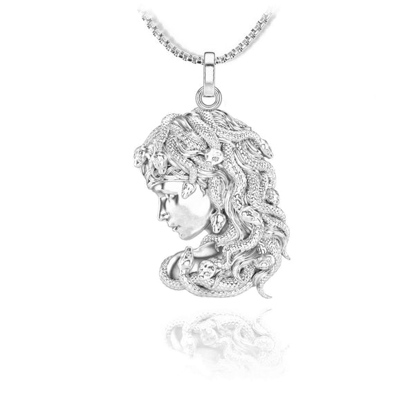 Gorgon Pendant - Sterling silver - ndm-jewelry