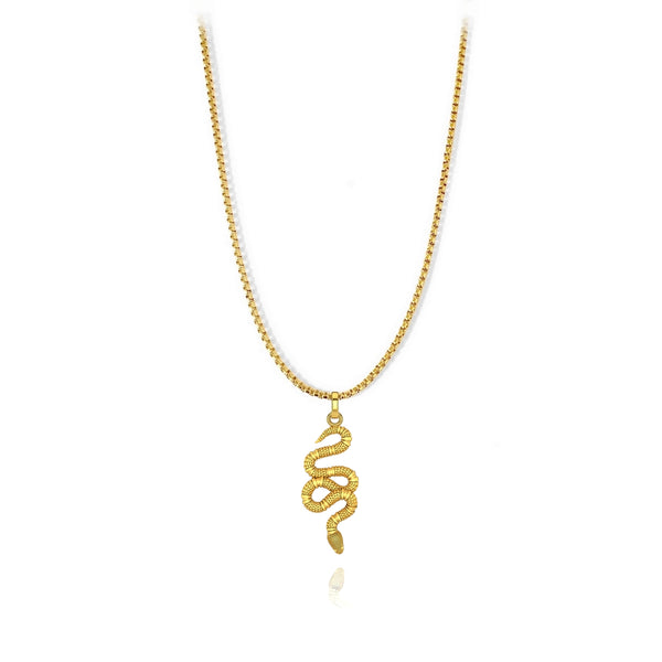 Snake Pendant - Stainless Steel - ndm-jewelry