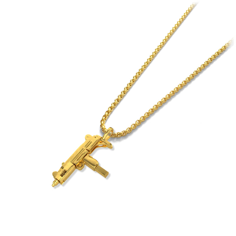 Uzi Pendant - 18k gold plated - ndm-jewelry