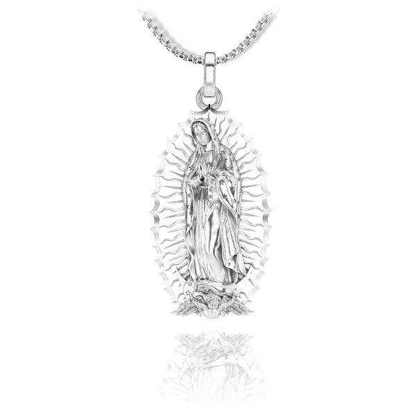 Virgin of Guadalupe Pendant - Sterling silver - ndm-jewelry