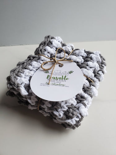 Textured two-tone cotton washcloths