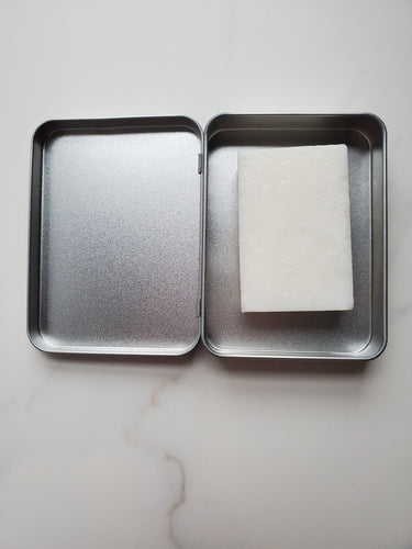 2-in-1 solid shampoo+soap bar w/ carrying tin