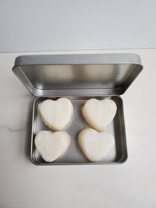 1 oz solid bar shampoo 2-in-1 travel size hearts