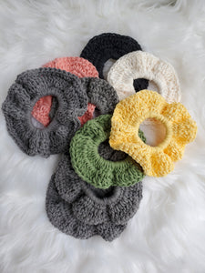 Compostable cotton scrunchie