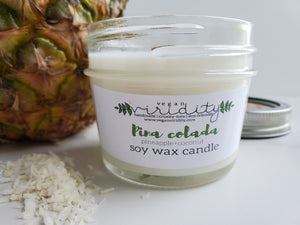 4 oz summer scented soy wax candle