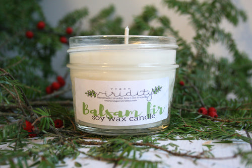 4oz winter scented soy wax candle