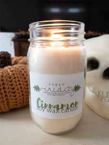 8 oz autumn scented soy wax candle