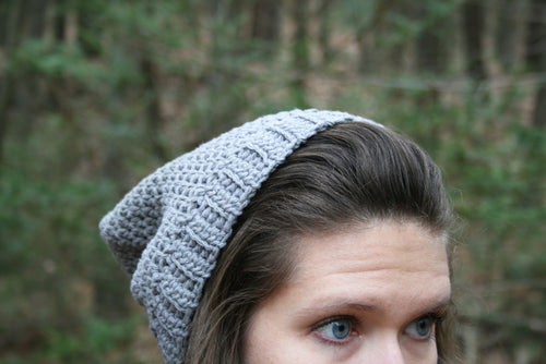 Cotton beanie slouchy hat