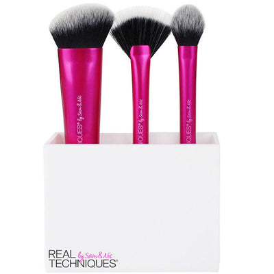 Real Techniques Sculpting Gavesæt 4 Styks (Dette sæt indeholder:1 x Sculpting Brush1 x Fan Brush1 x Setting Brush1 x Børsteholder)