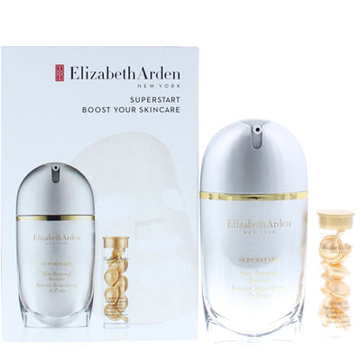 Elizabeth Arden Superstart Boost Your Skincare Gavesæt 30ml Skin Renewal Booster + 7 Ceramide Capsule Serum + 1 Sheet Mask