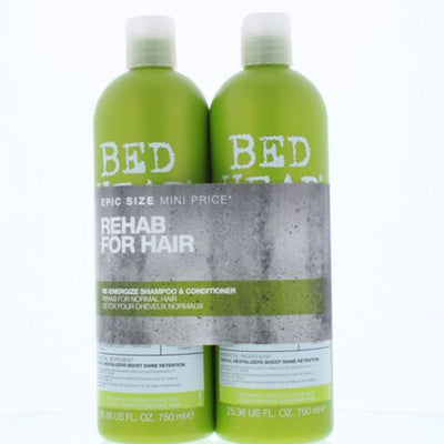 Tigi Duo Pack Bed Head Urban Antidotes Re-Energize 750ml Shampoo + 750ml Conditioner (Balsam)
