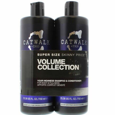 Tigi Catwalk Your Highness Duo Pack 750ml Shampoo + 750ml Conditioner (Balsam)