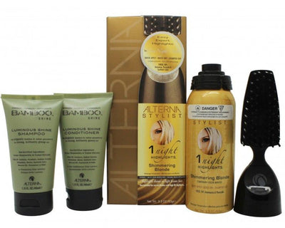 Alterna Stylist Gavesæt 90ml 1 Night Highlights in Shimmering Blond + 40ml Bamboo Shine Balsam + 40ml Bamboo Shine Shampoo