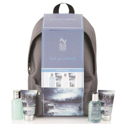 Style & Grace Skin Expert For Him Backpack Gift Set 5 Pieces (1 x 100ml Face Scrub1 x 100 ml shampoo1 x 80ml Body Wash1 x 80ml Body Lotion1 x Rygsæk)