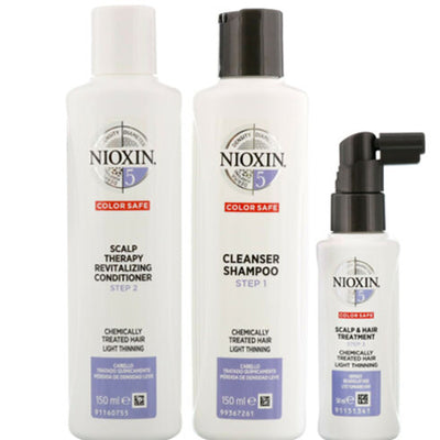Wella Nioxin System 5 Gavesæt 150ml Shampoo Cleanser + 150ml Scalp Revitaliser + 50ml Scalp Treatment