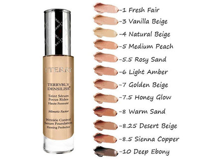 By Terry Terrybly Densiliss Wrinkle Control Serum Foundation 30ml - 10 Deep Ebony