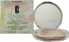 Clinique Stay-Matte Sheer Pressed Powder Oil-Free 7.6g - Honey Ansigtspudder Clinique