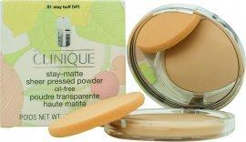 Clinique Stay-Matte Sheer Pressed Powder - Stay Buff Ansigtspudder Clinique