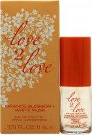 Love2Love Orange Blossom + White Musk Eau de Toilette 11ml Spray Eau de Toilette Love2Love