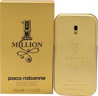 Paco Rabanne 1 Million Eau De Toilette 50ml Spray Eau de Toilette Paco Rabanne